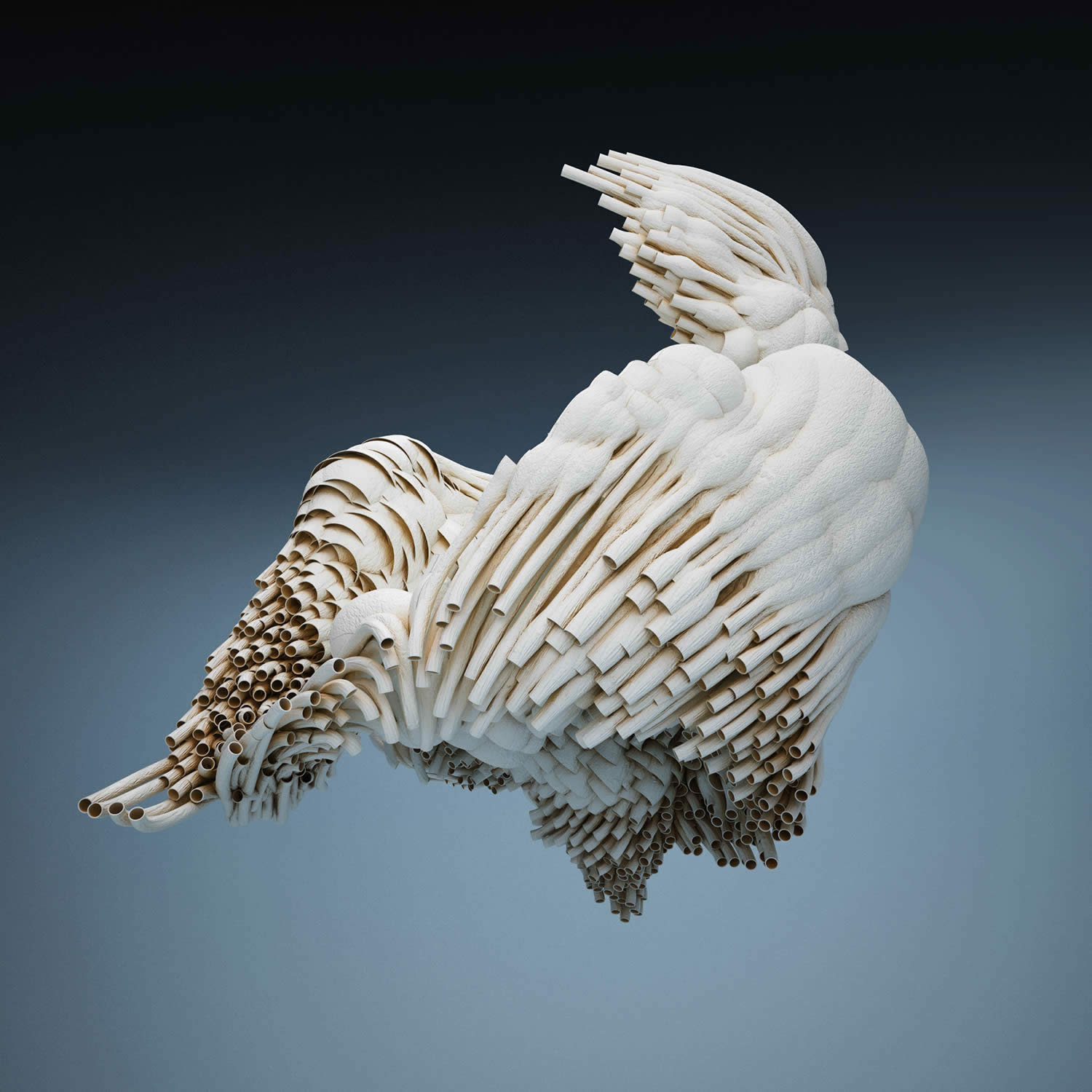 white sculptural art (3d) by David McLeod