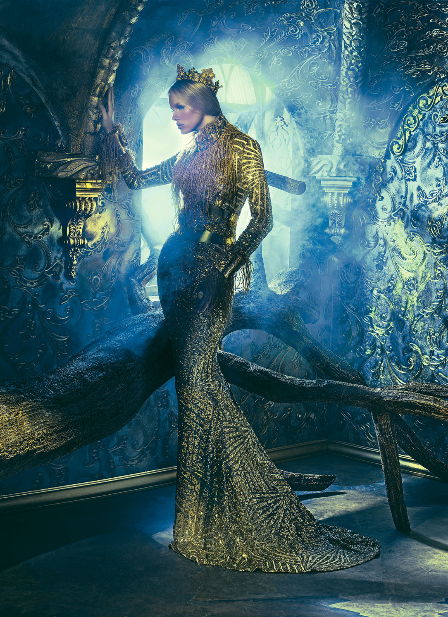 tejal patni fashion photography zodiac model gold