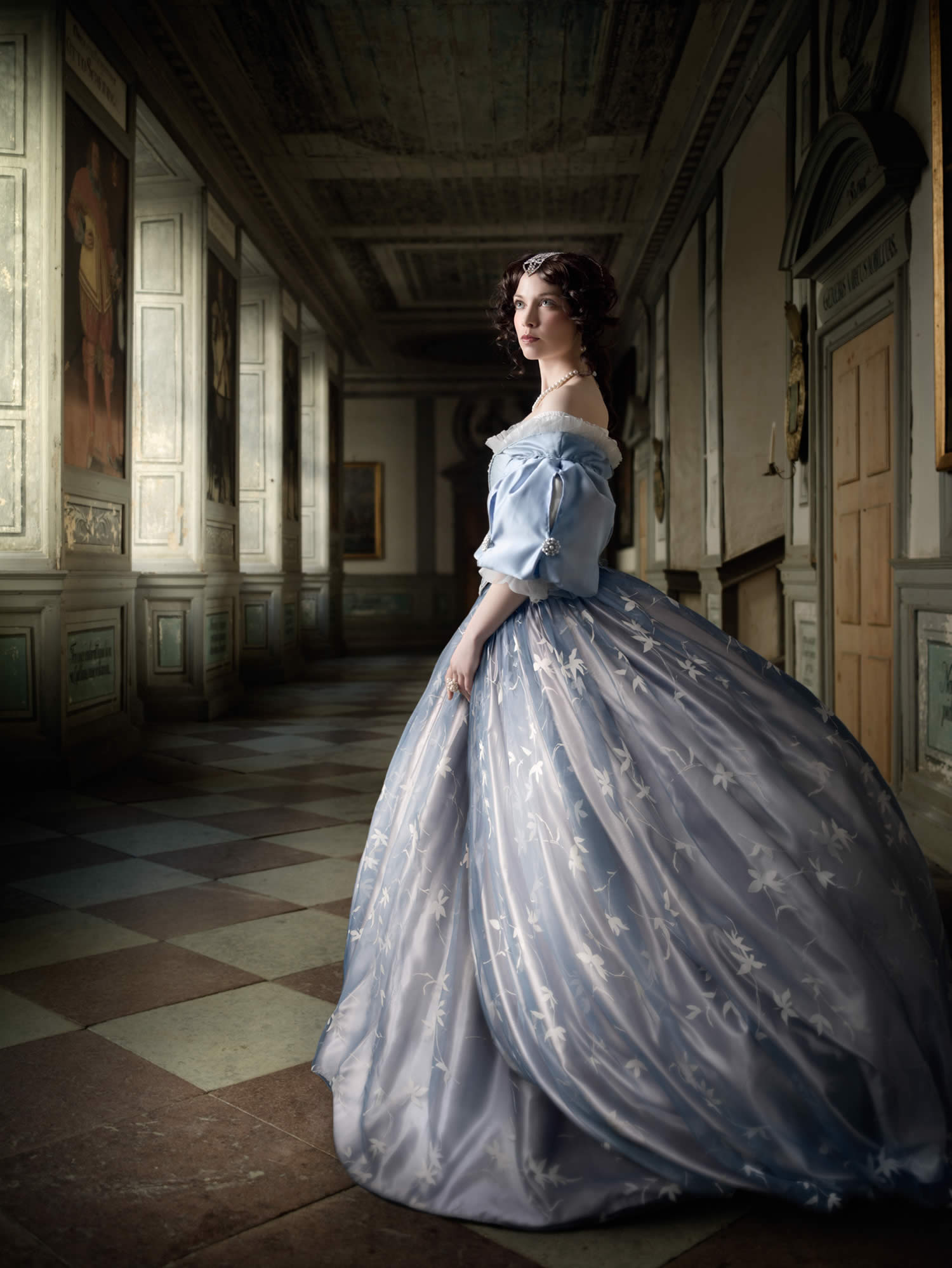 princess in blue dress, a frozen tale, alexia sinclair