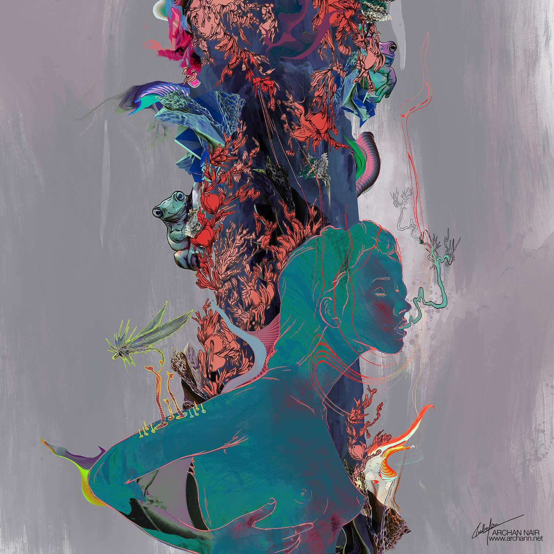 dark portrait by archan nair
