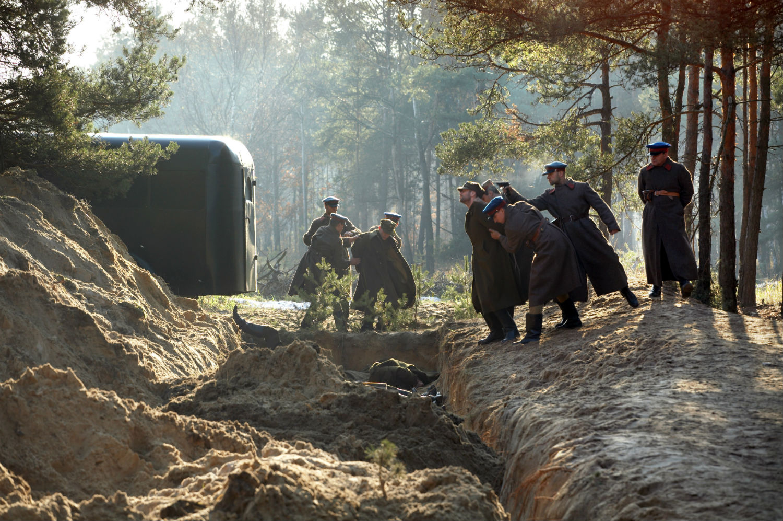 eastern european film katyn poland massacre forest soldiers war trees