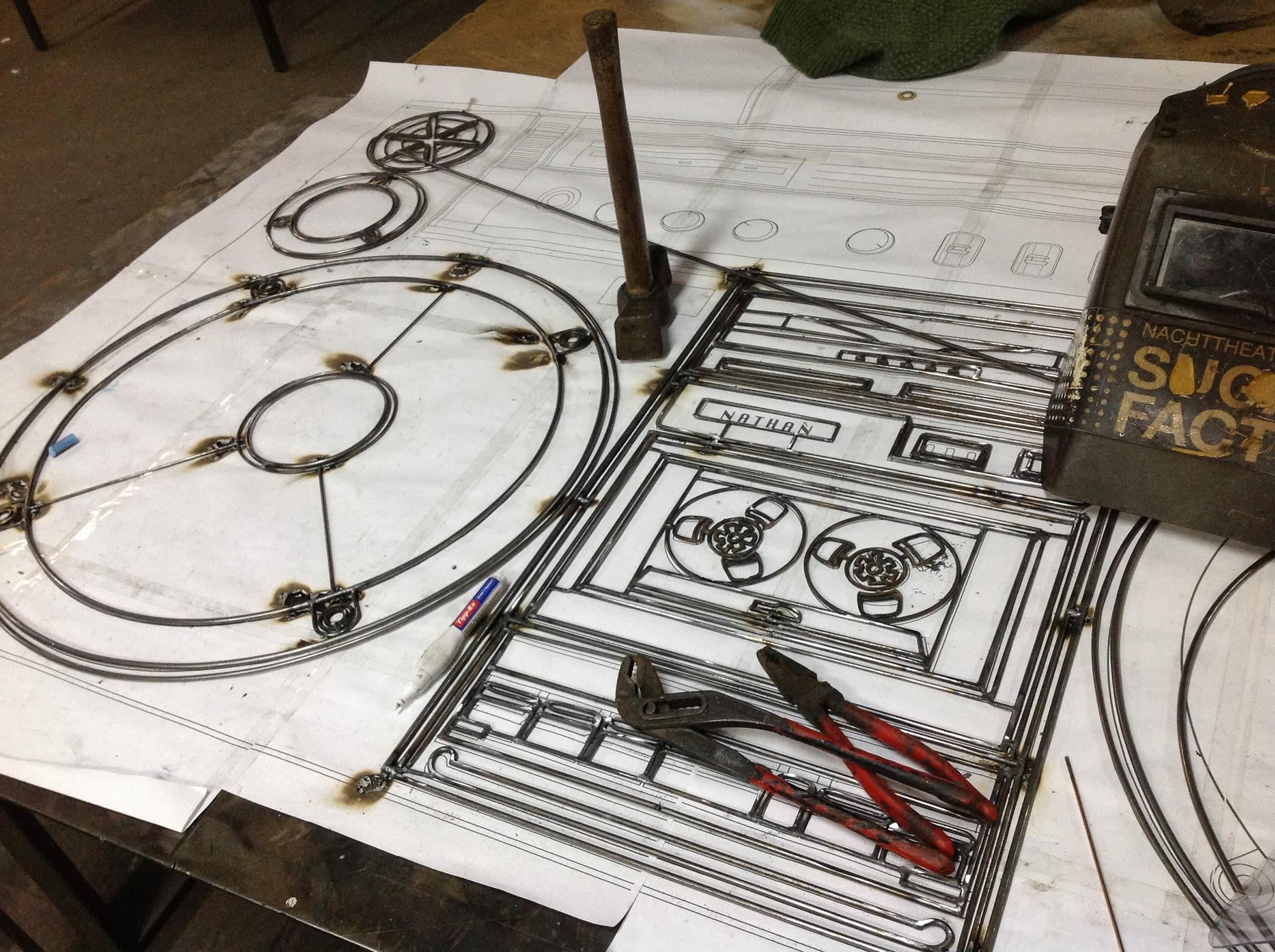 making of, welding, welding art by frank plant