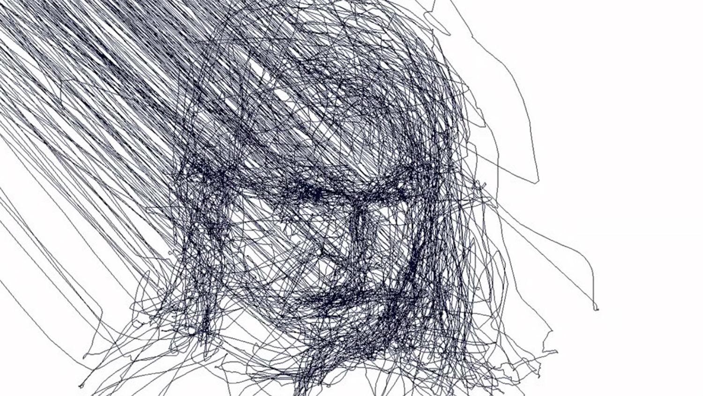 graham fink artist drawings technology eyes portrait