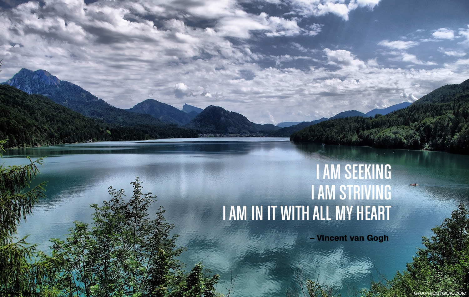 """I am seeking. I am striving. I am in it with all my heart."" –Vincent van Gogh"