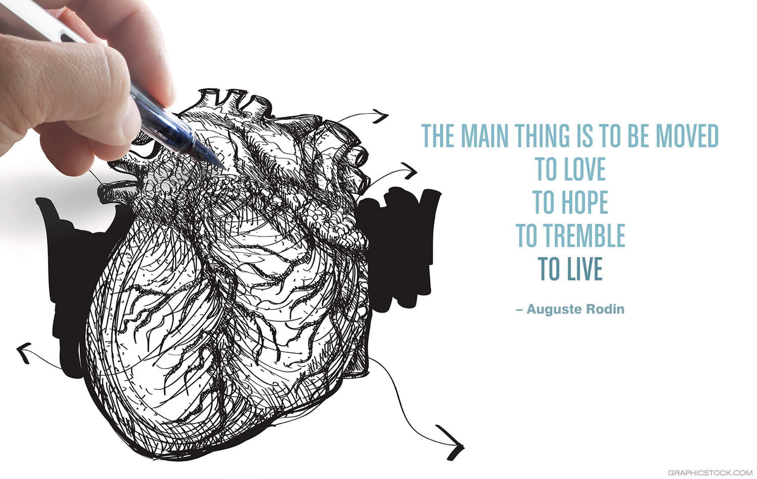 """The main thing is to be moved, to love, to hope, to tremble, to live."" –Barbara Januszkiewicz"