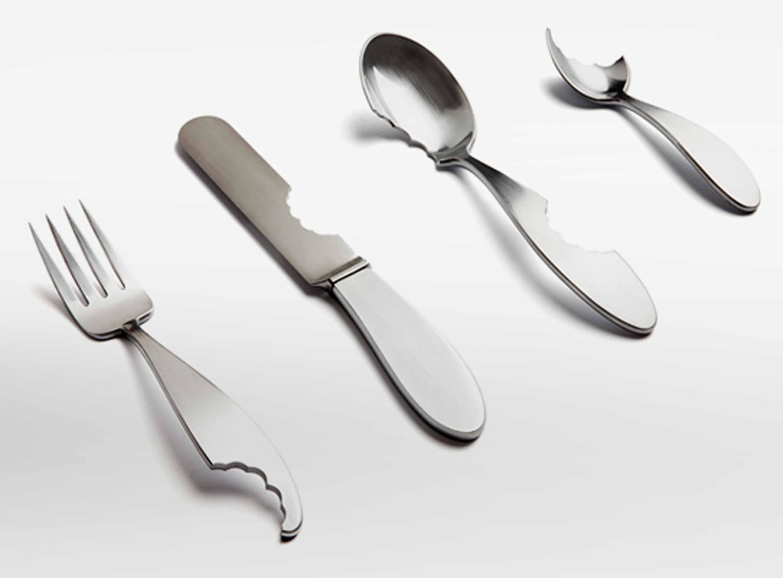 ucky luke utensil set, bitten off, by james stoklund