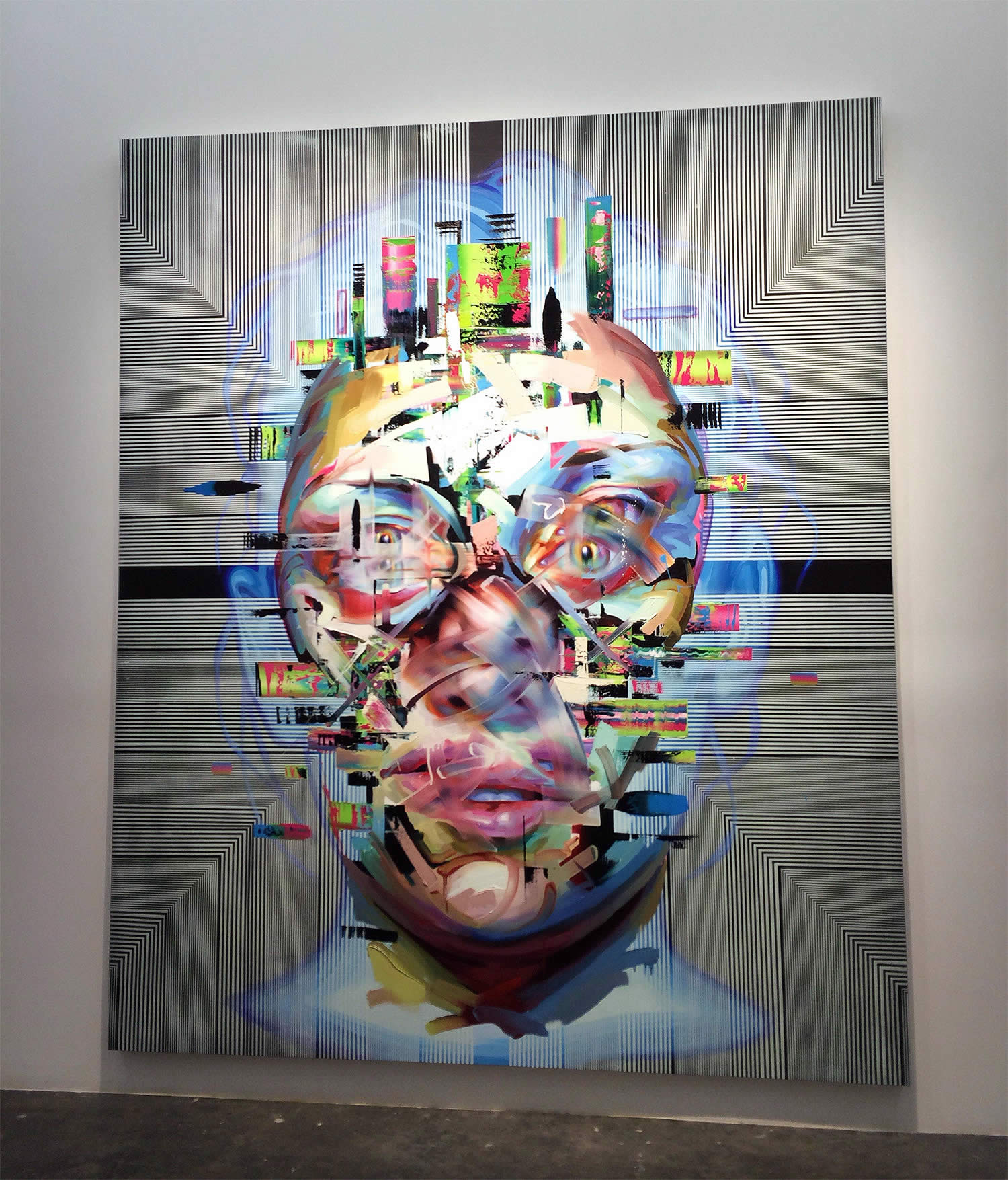 gallery shot of portrait painting by justin bower