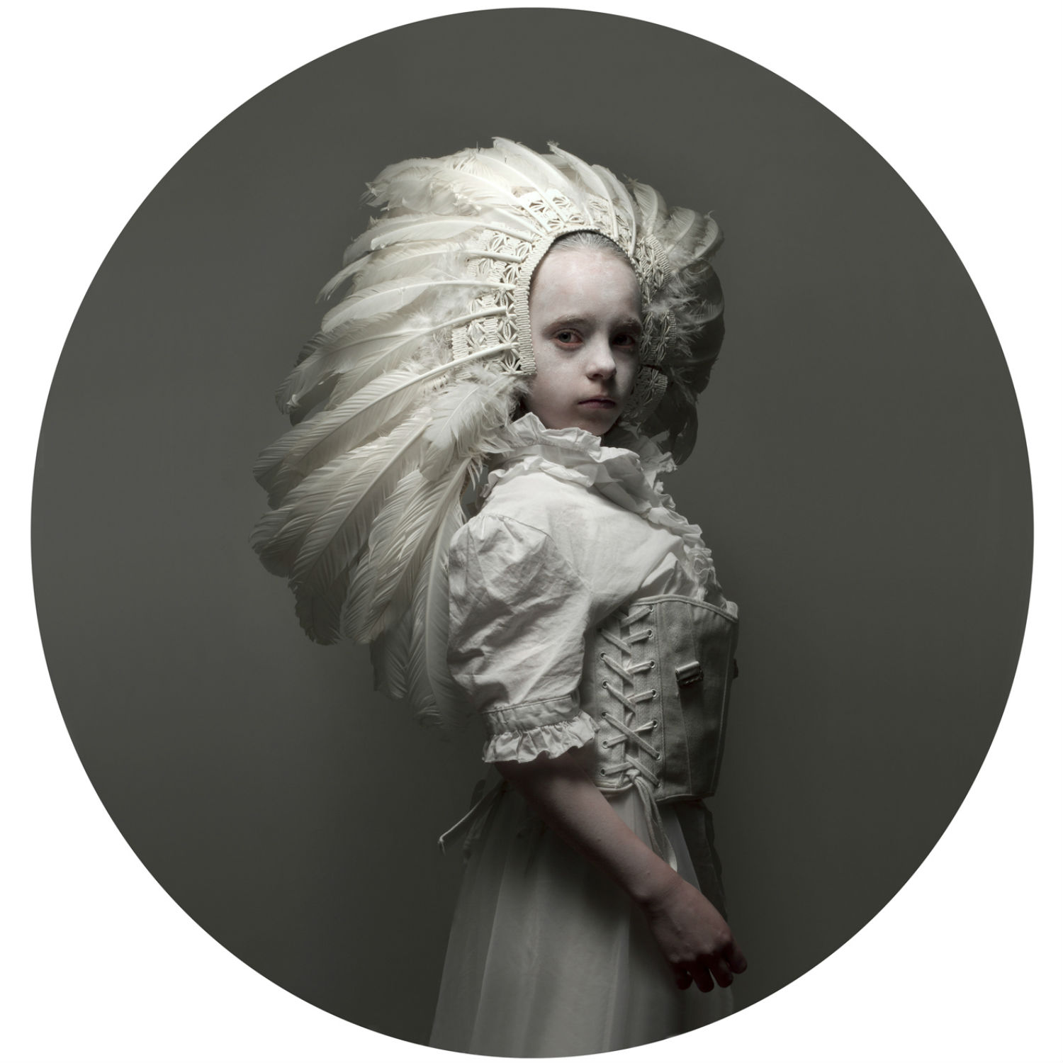 justyna neryng photography lost childhoods costume circle white feathers