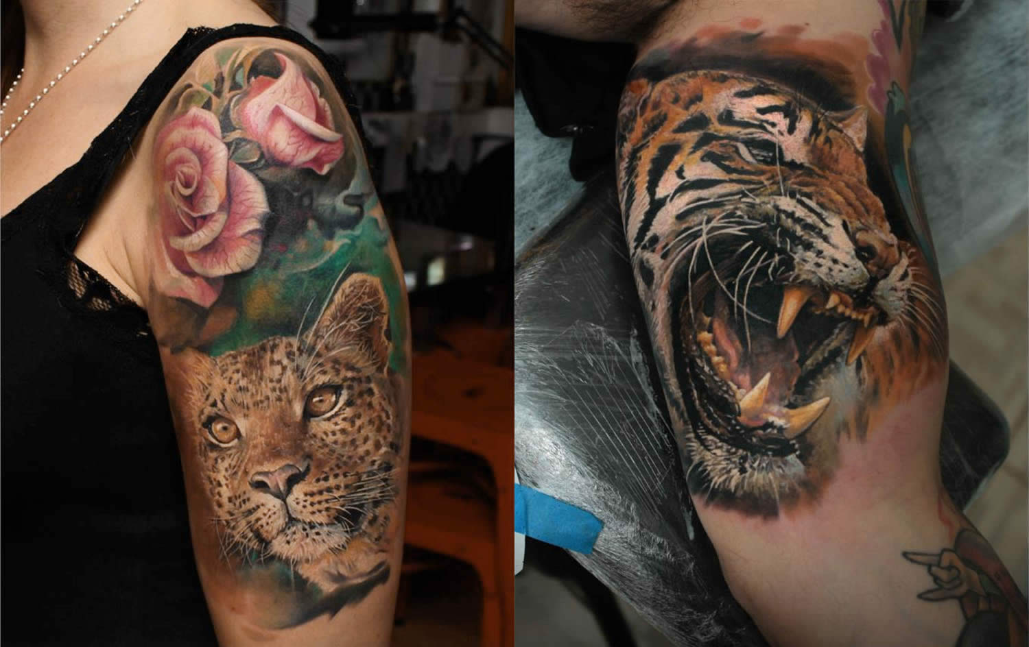 tiger tattoos by led coult