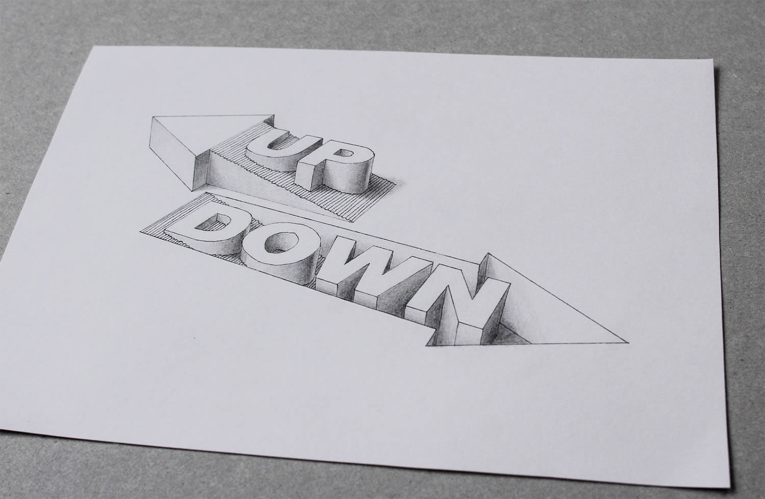 UP AND DOWN 3d typography