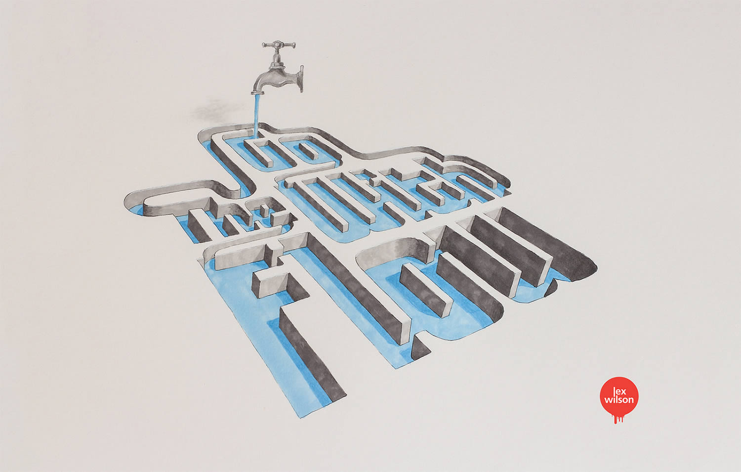 go with the flow, 3d typography