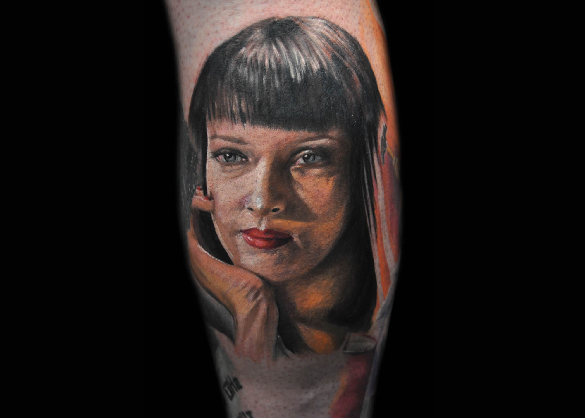 mia wallace in pulp fiction, tattoo