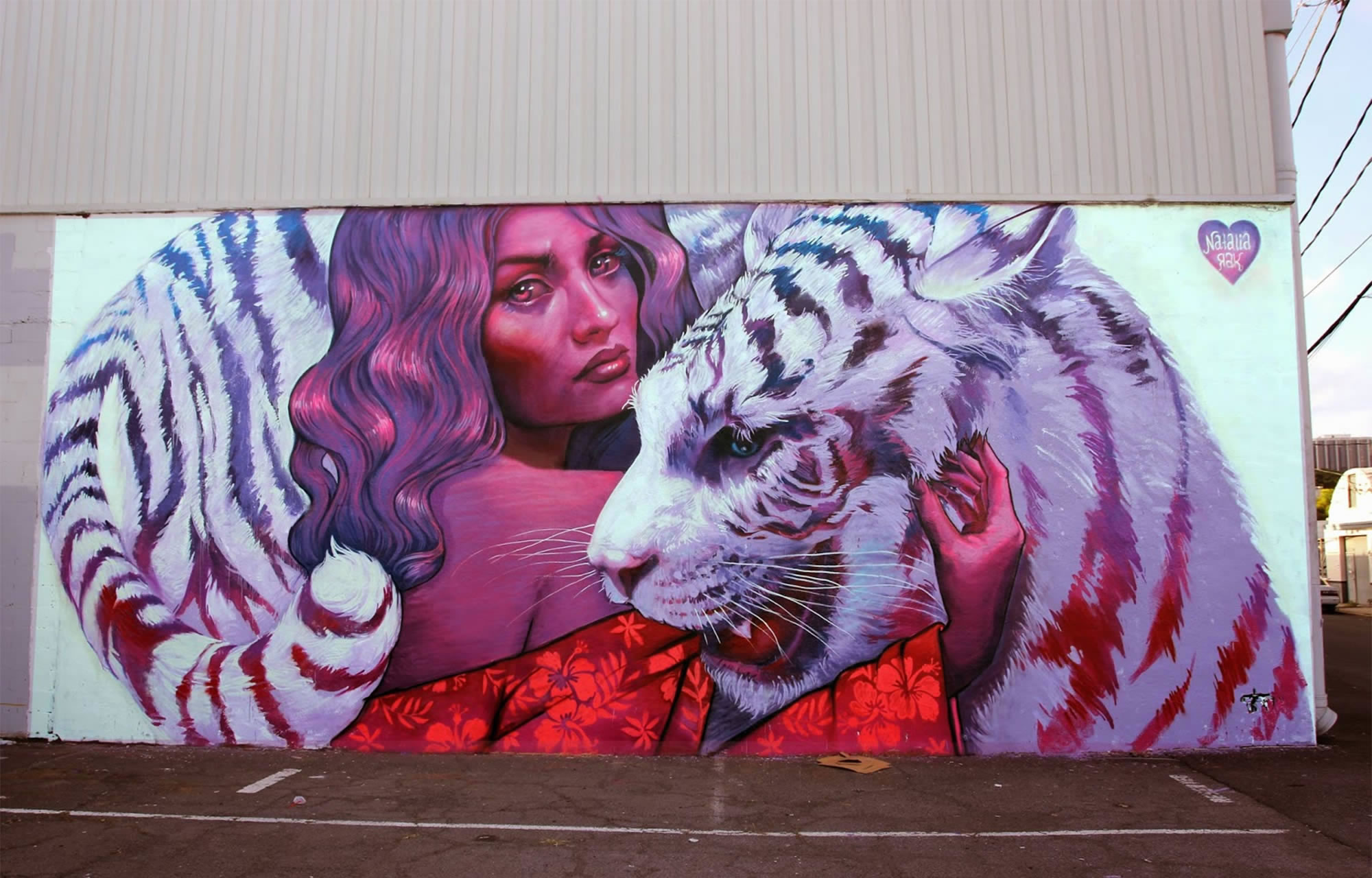 predators, mural for powwow hawaii, by rak