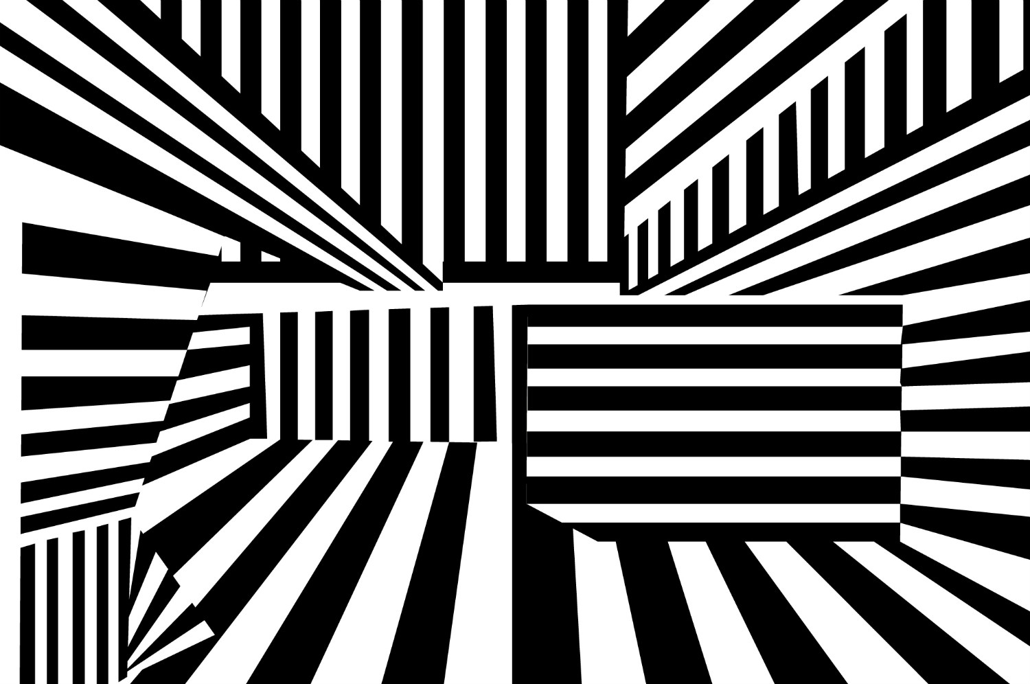 Victor Vasarely op art black white stripes