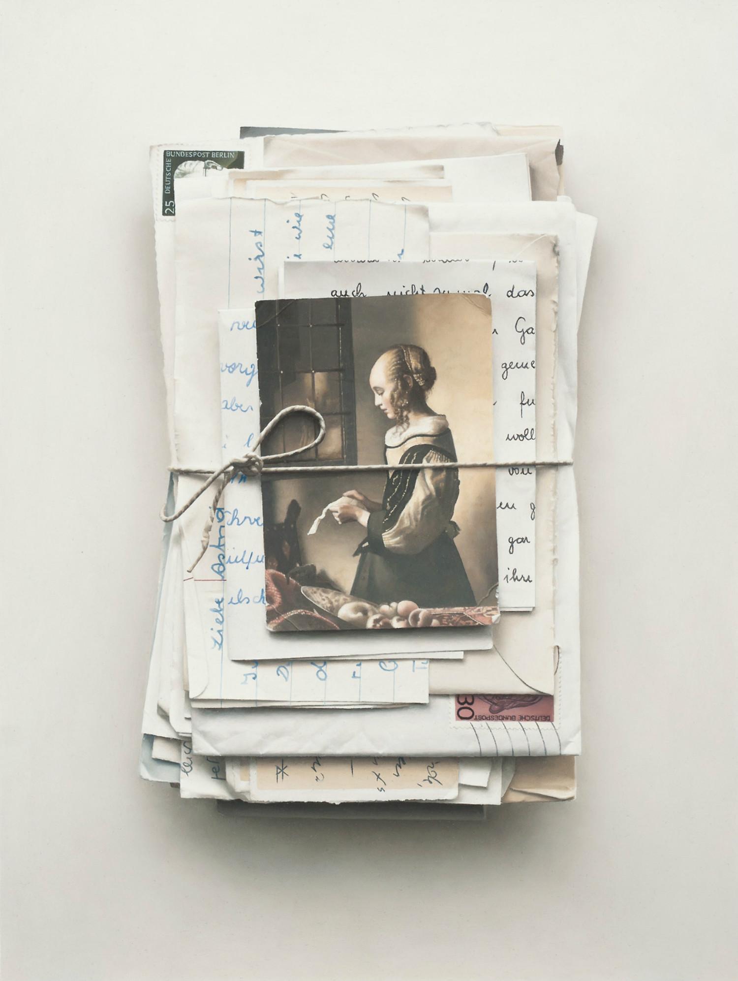 patrick kramer hyperrealist paintings old postcards