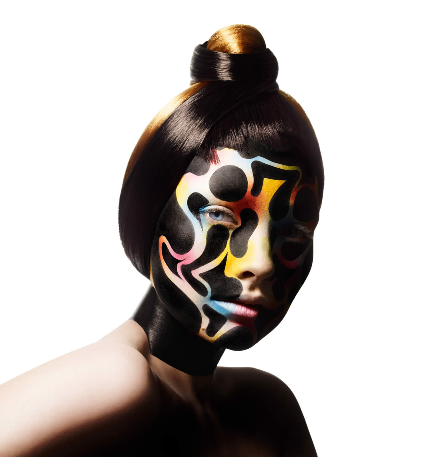 face painting on model, photo by rankin