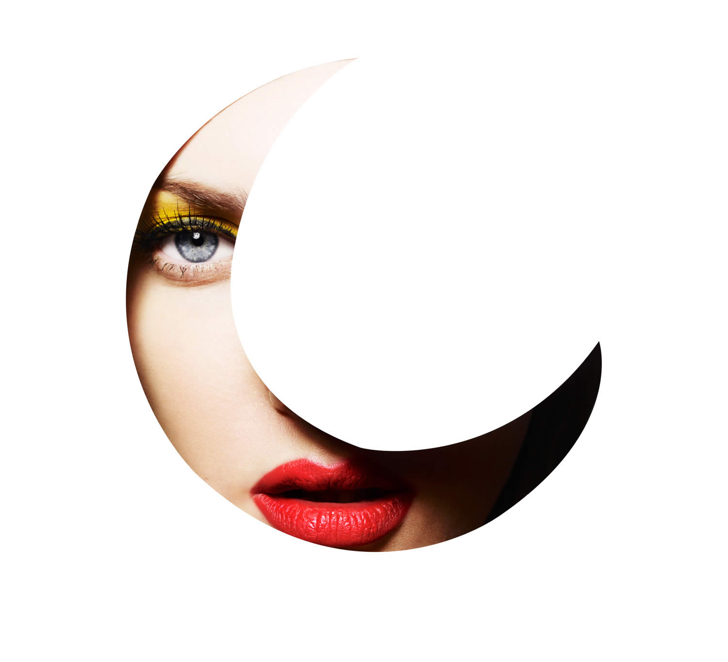 moon shape cutout photo by rankin
