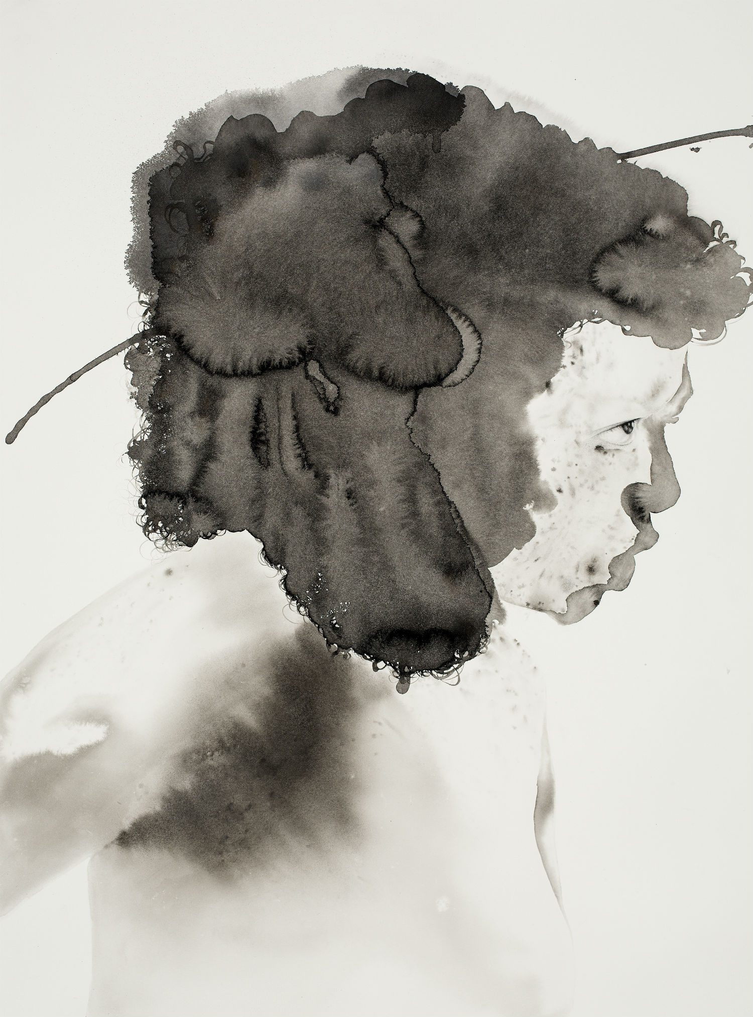 samantha wall illustration art black white