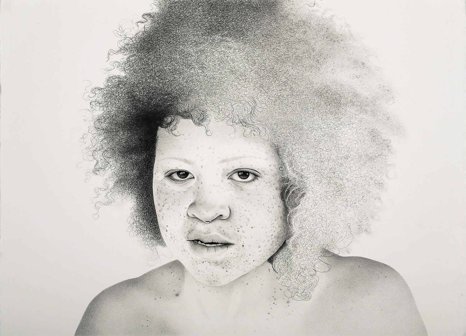 girl with afro, by samantha wall