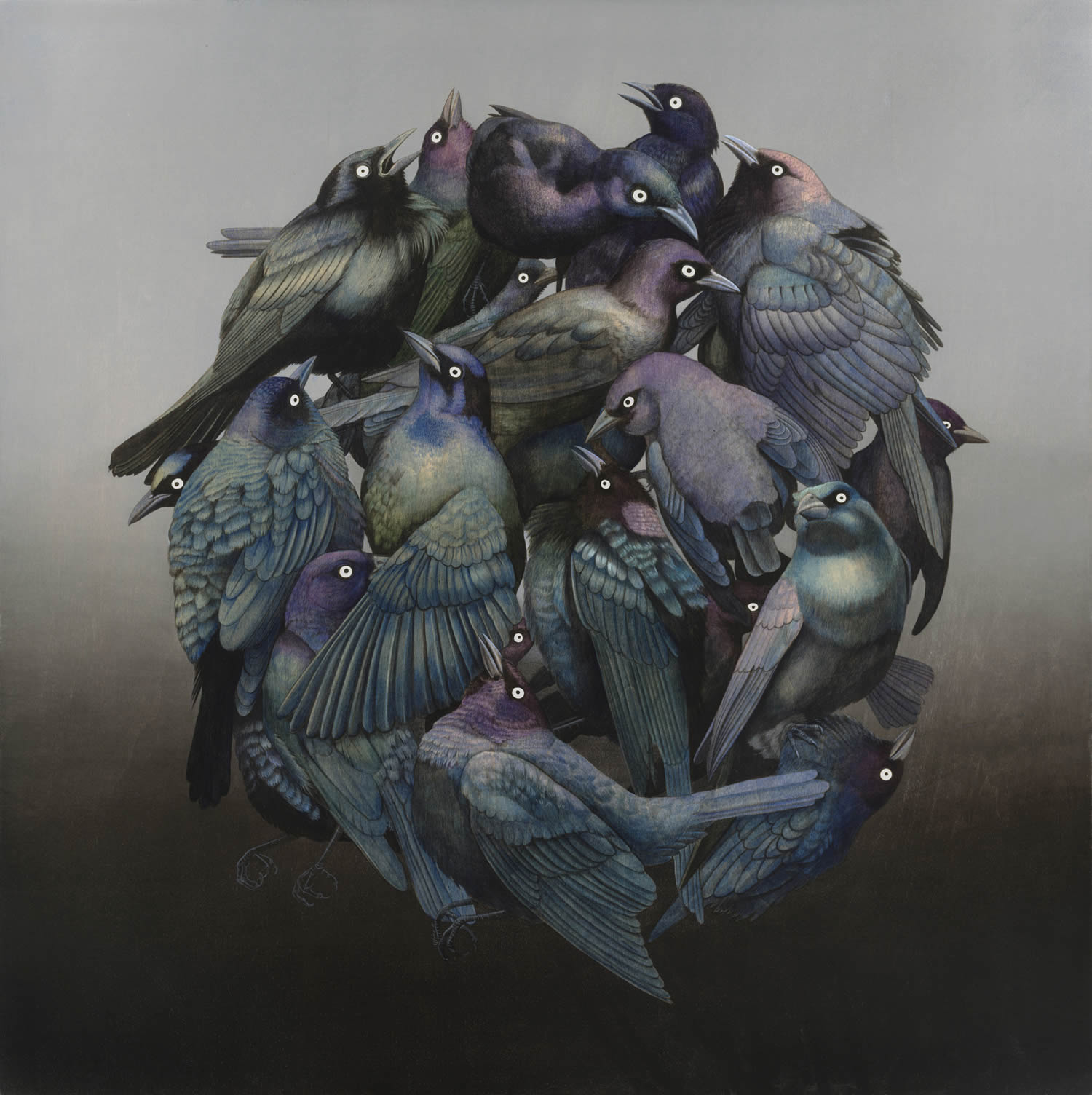 birds in circle by tiffany bozic