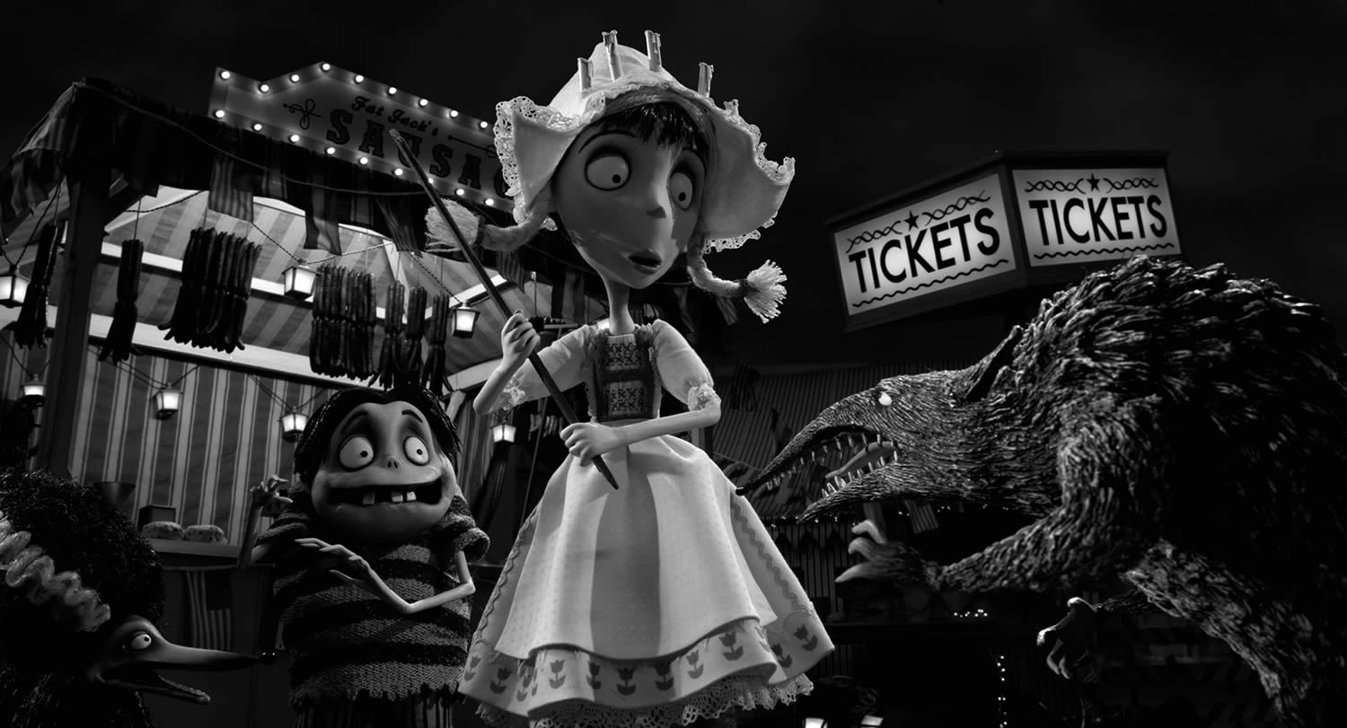 character in old style clothing in Frankenweenie