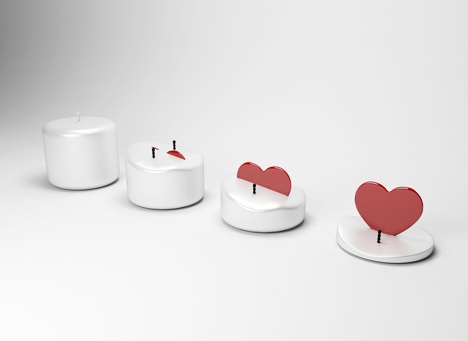 heart in candle, Ardora Candle by Sebastian Popa