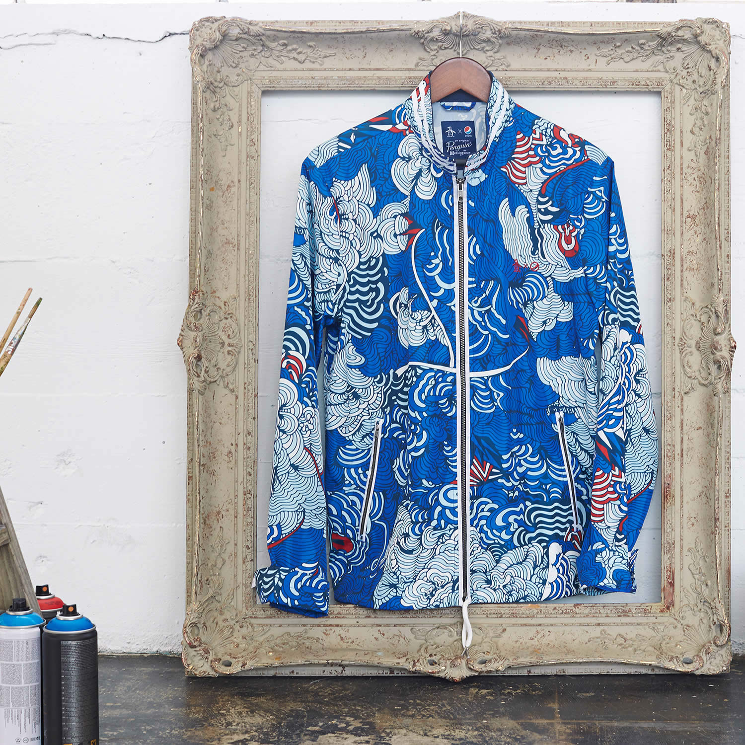Pepsi Live For Now Capsule Collection, drawing on jacket