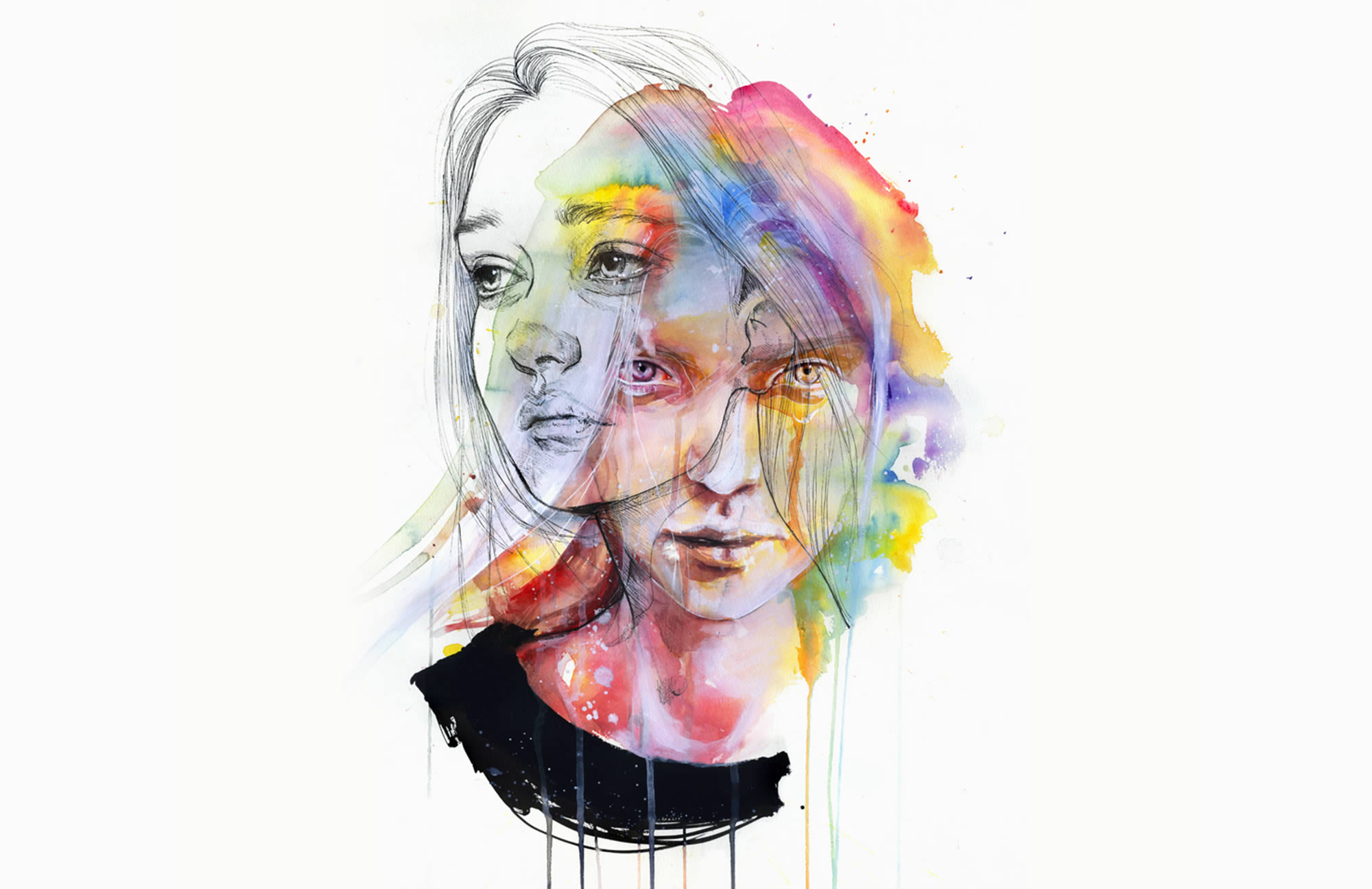 Agnes Cecile's Rainbow Watercolor Art from 2014-2015