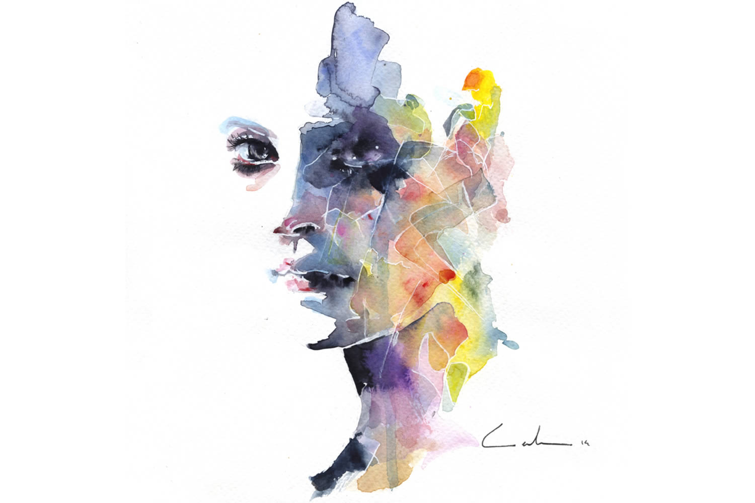 rainbow watercolor by agnes cecile