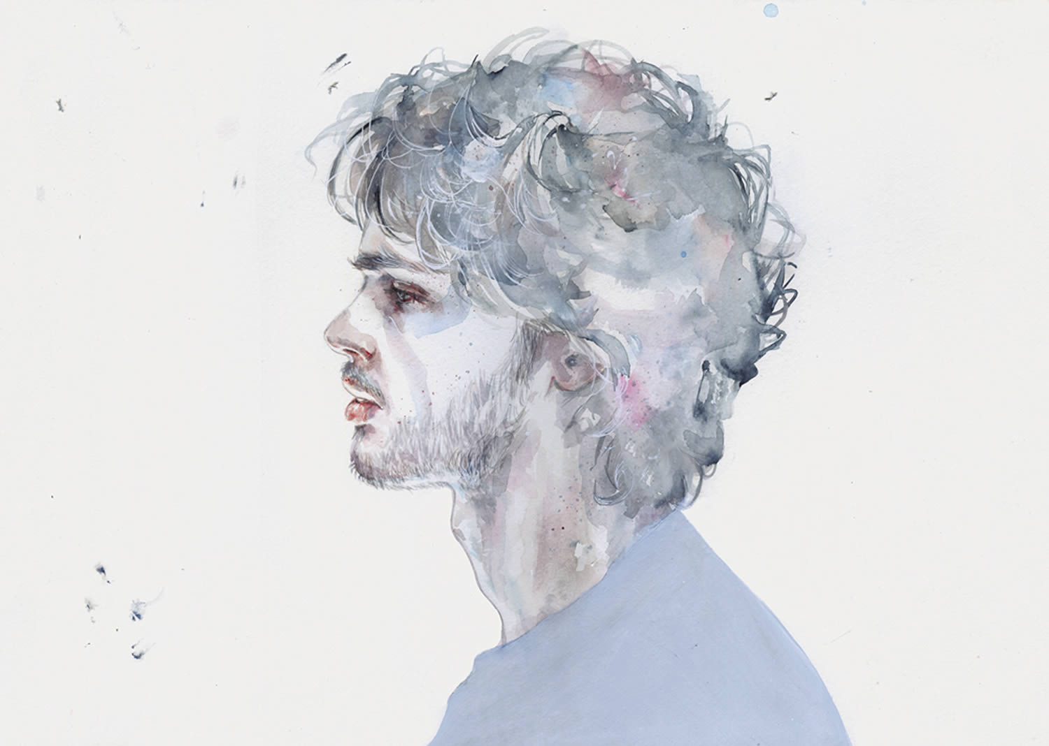 side view of young man, portrait byagnes cecile