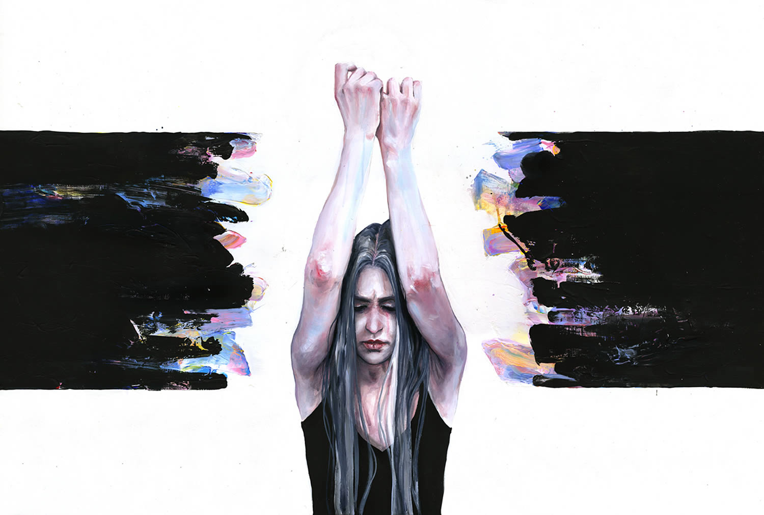 breaking through, painting by agnes cecile