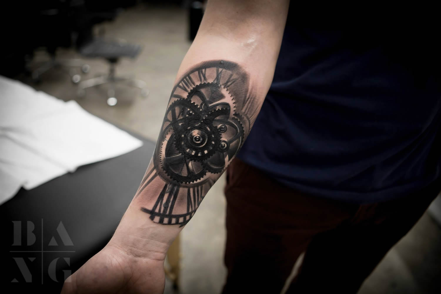 machinery tattoo by bang bang