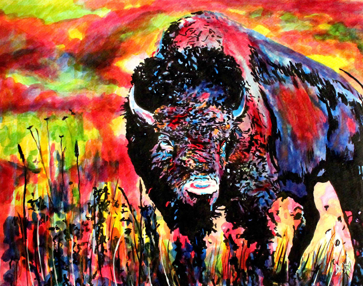 john bramblitt blind painters american texas colour buffalo