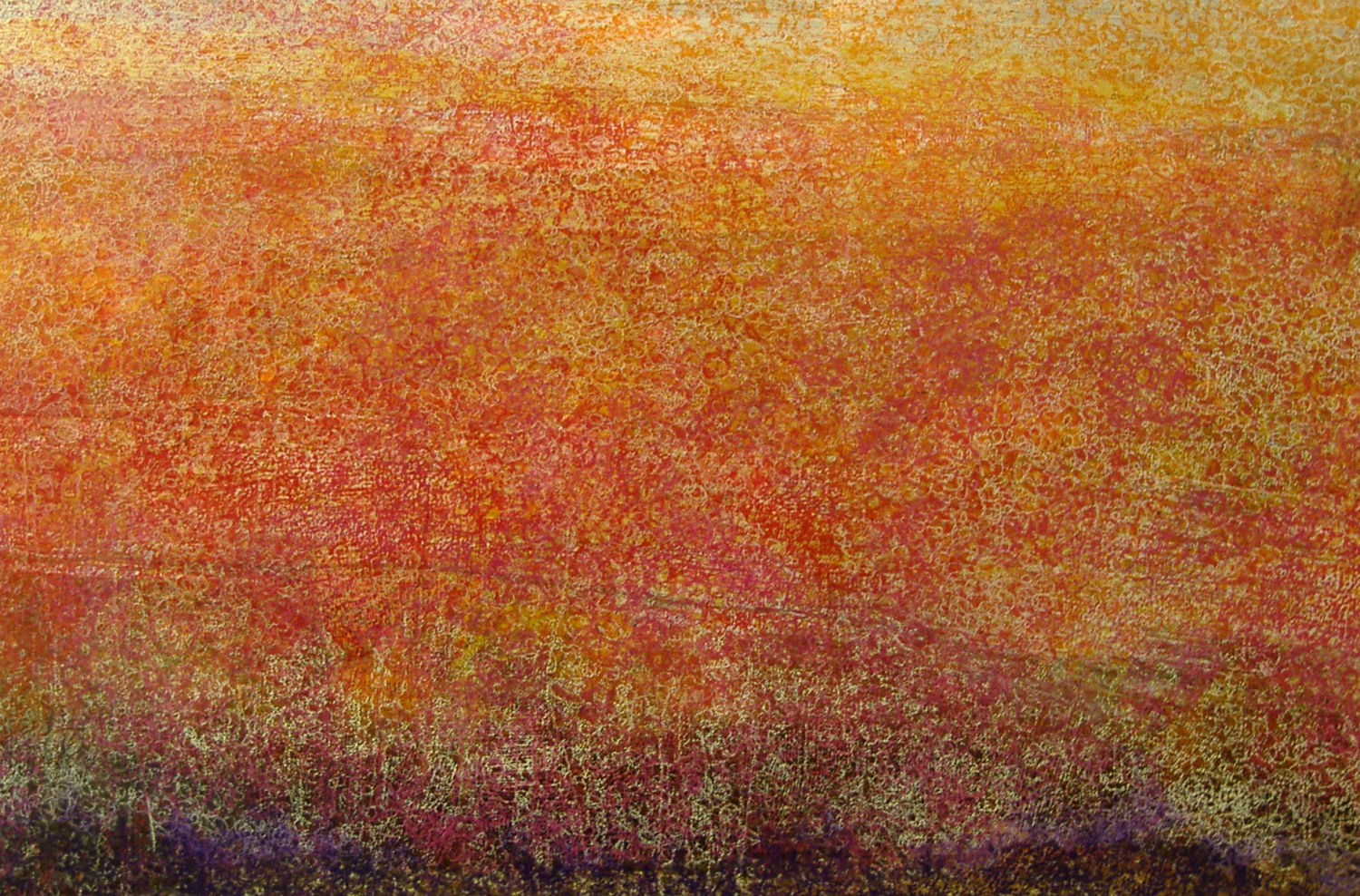 keith salmon blind painter art abstract landscape orange
