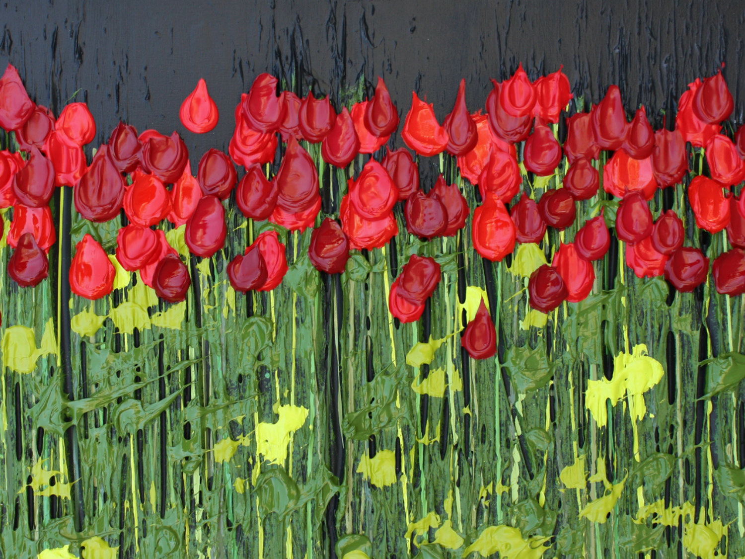 blind painters jeff hanson colour field flowers grass red