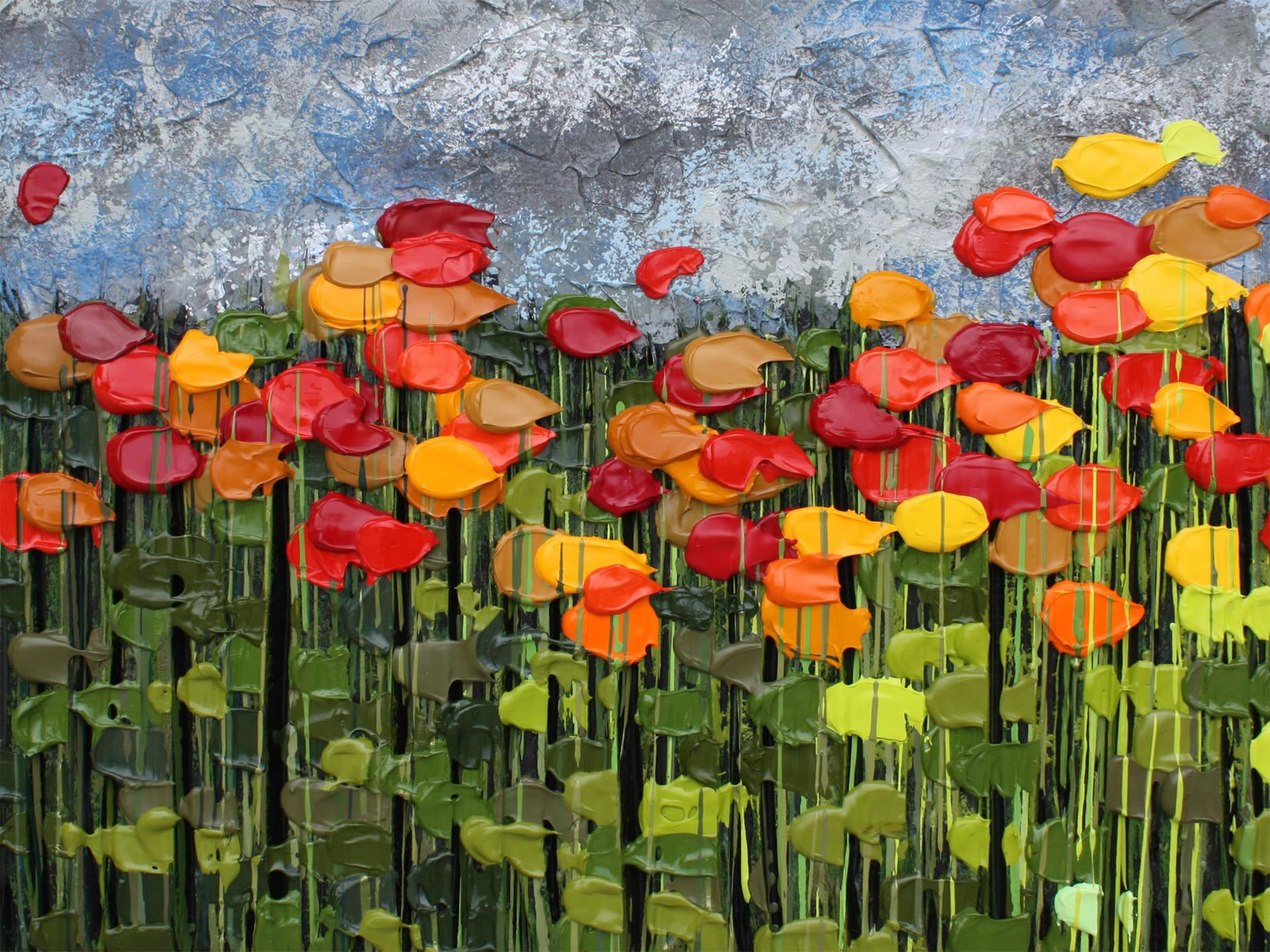flowers, impressionim art, by Jeff Hanson
