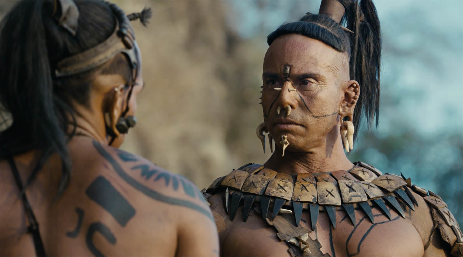 Mayans With Tattoos And Piercings In Apocalypto Movie