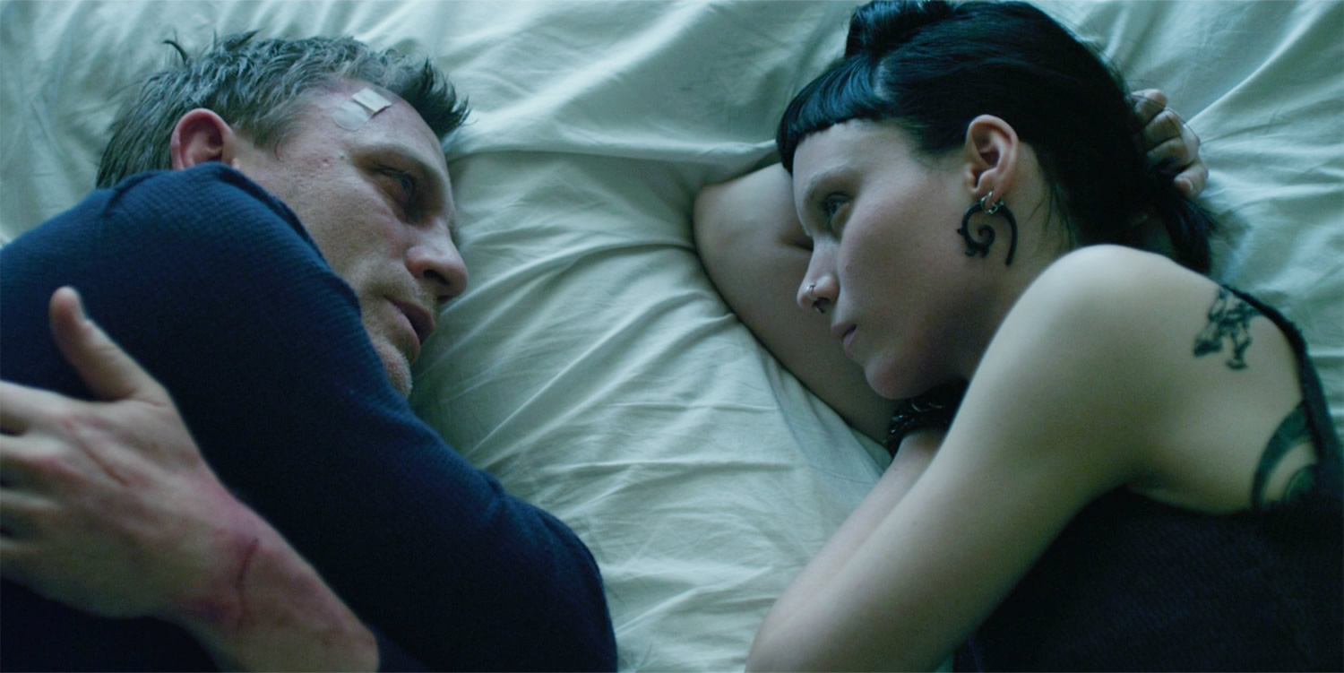 daniel craig and rooney mara in the girl with dragon tattoo