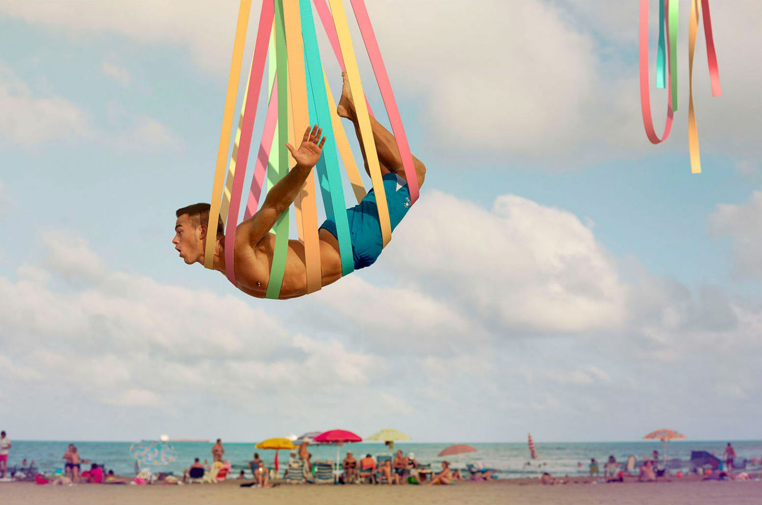 dimitri daniloff meshalogy photography colour beach acrobatics rainbow