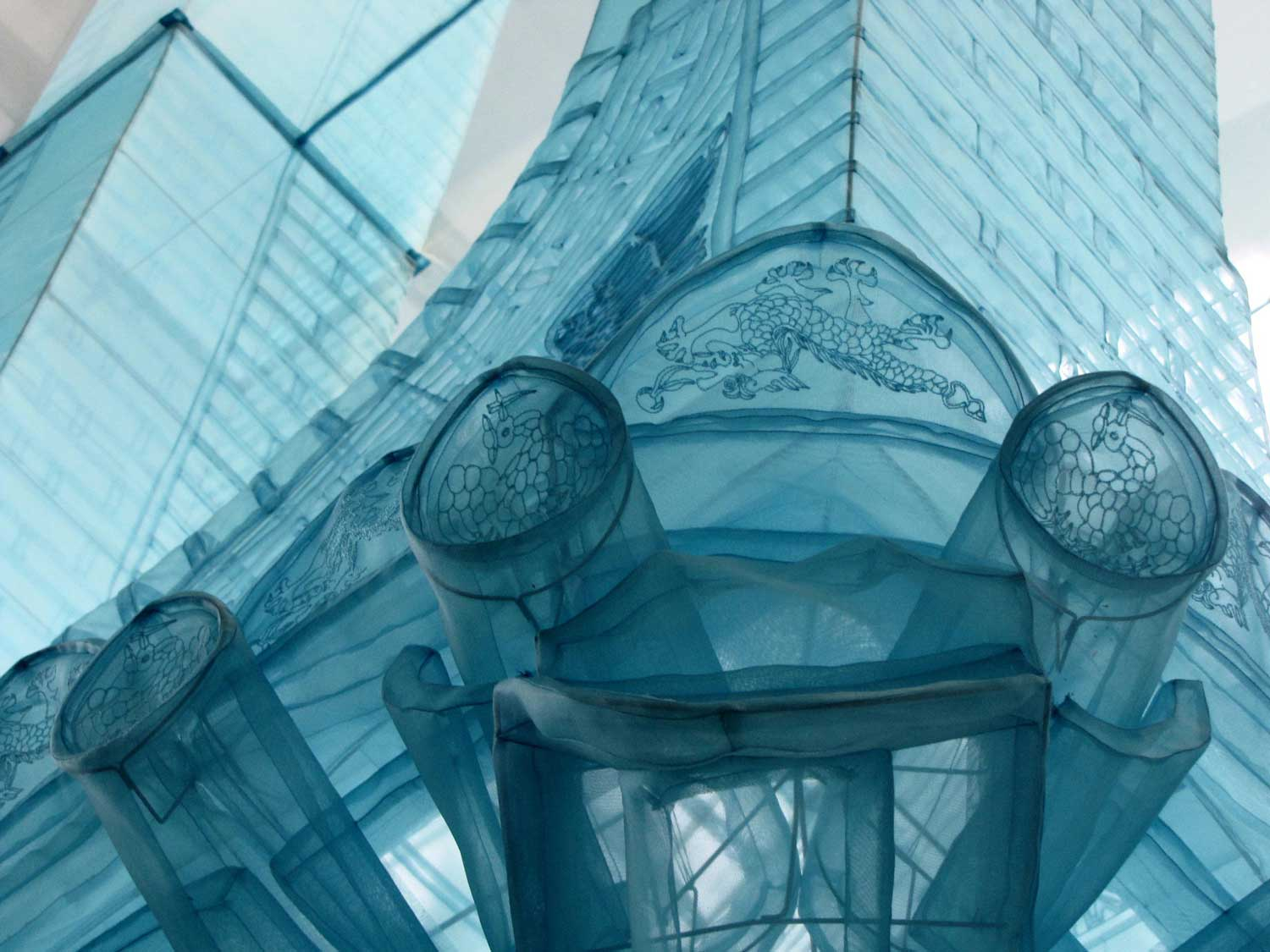 do ho suh sewn fabric sculptures archway detail