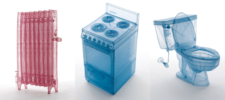 do ho suh sewn fabric sculptures three appliances