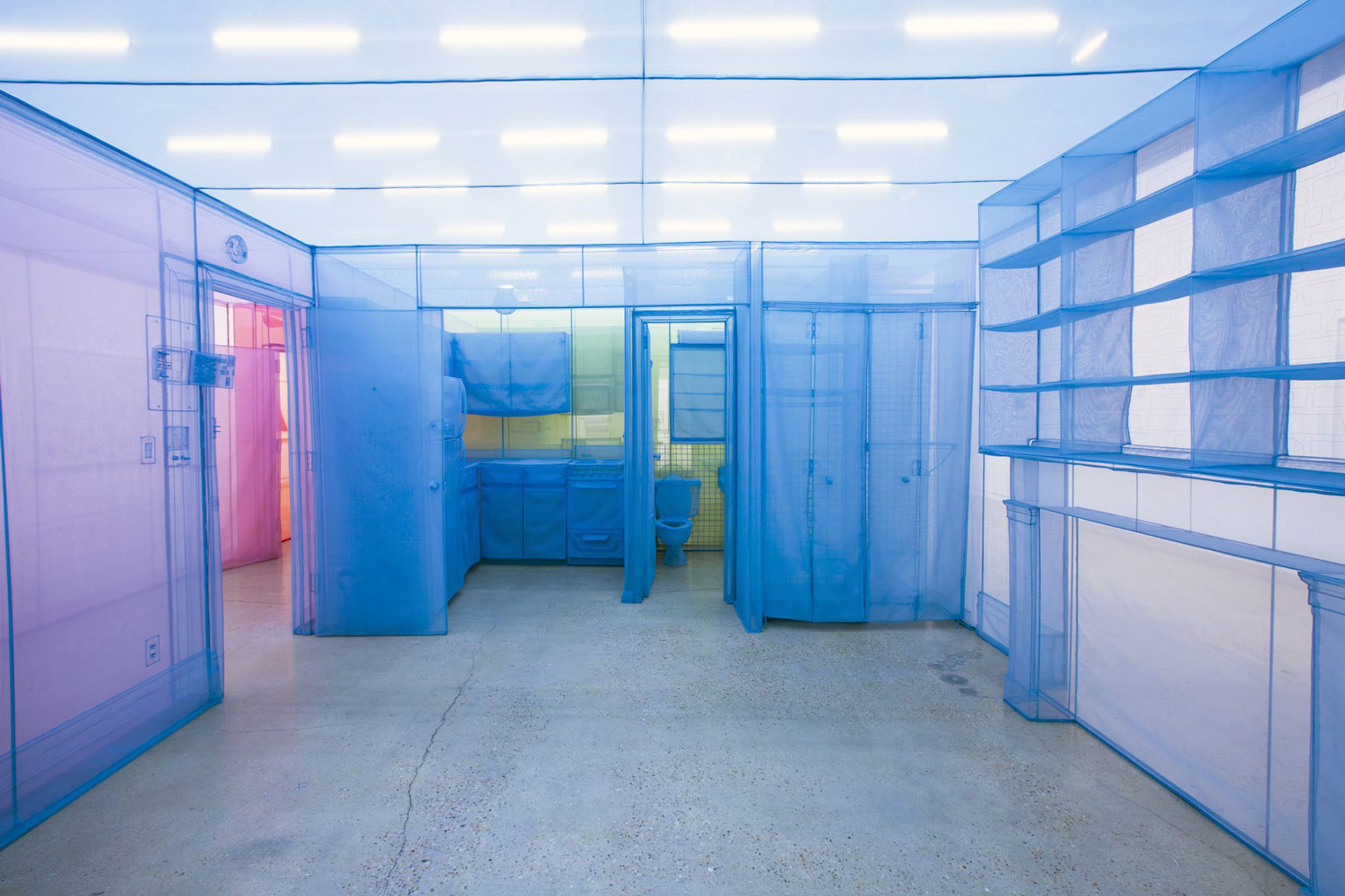 do ho suh sewn fabric sculptures interior of a house
