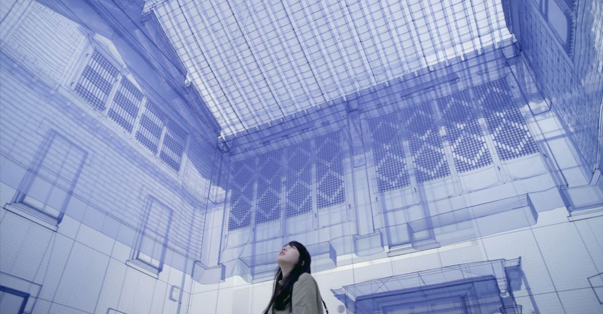 do ho suh sewn fabric sculptures inside lifesize blue house