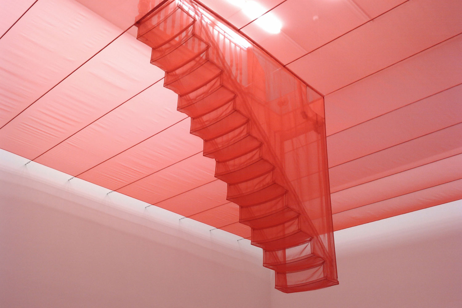 do ho suh sewn fabric sculptures stairs