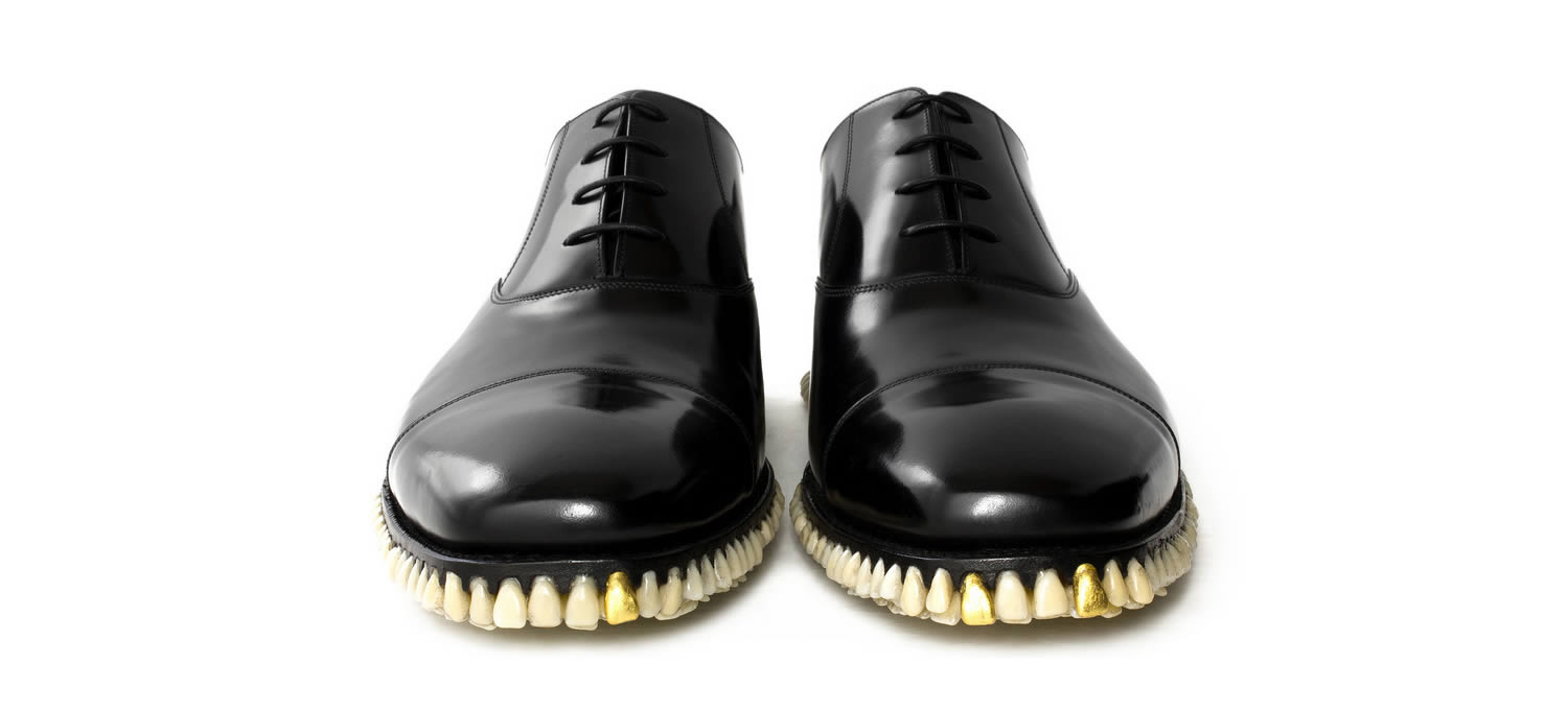black shoes with human teeth, FANTICH & YOUNG