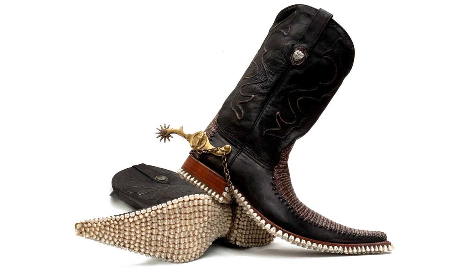 cowboy boots with teeth soles, FANTICH & YOUNG