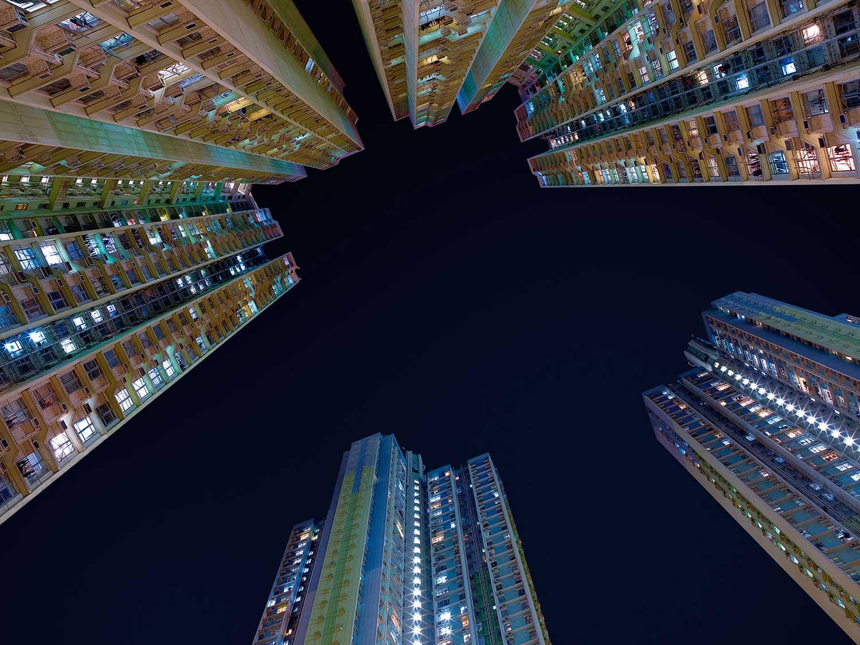 hans wilschut disorienting architectural photograph deep blue sky