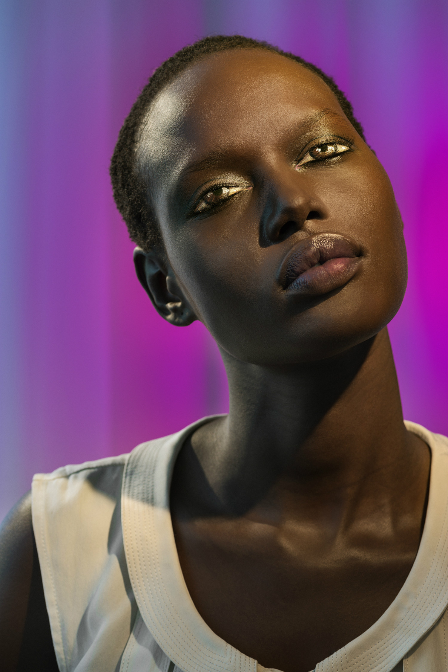laurie simmons how we see eyes photography model illusions surreal alek wek