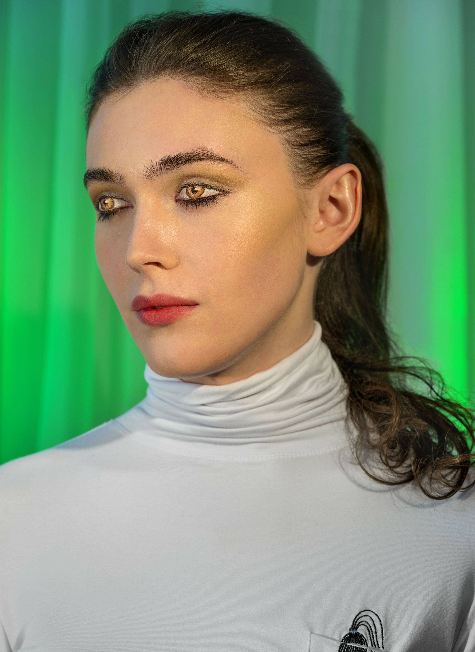 laurie simmons how we see model portrait colour
