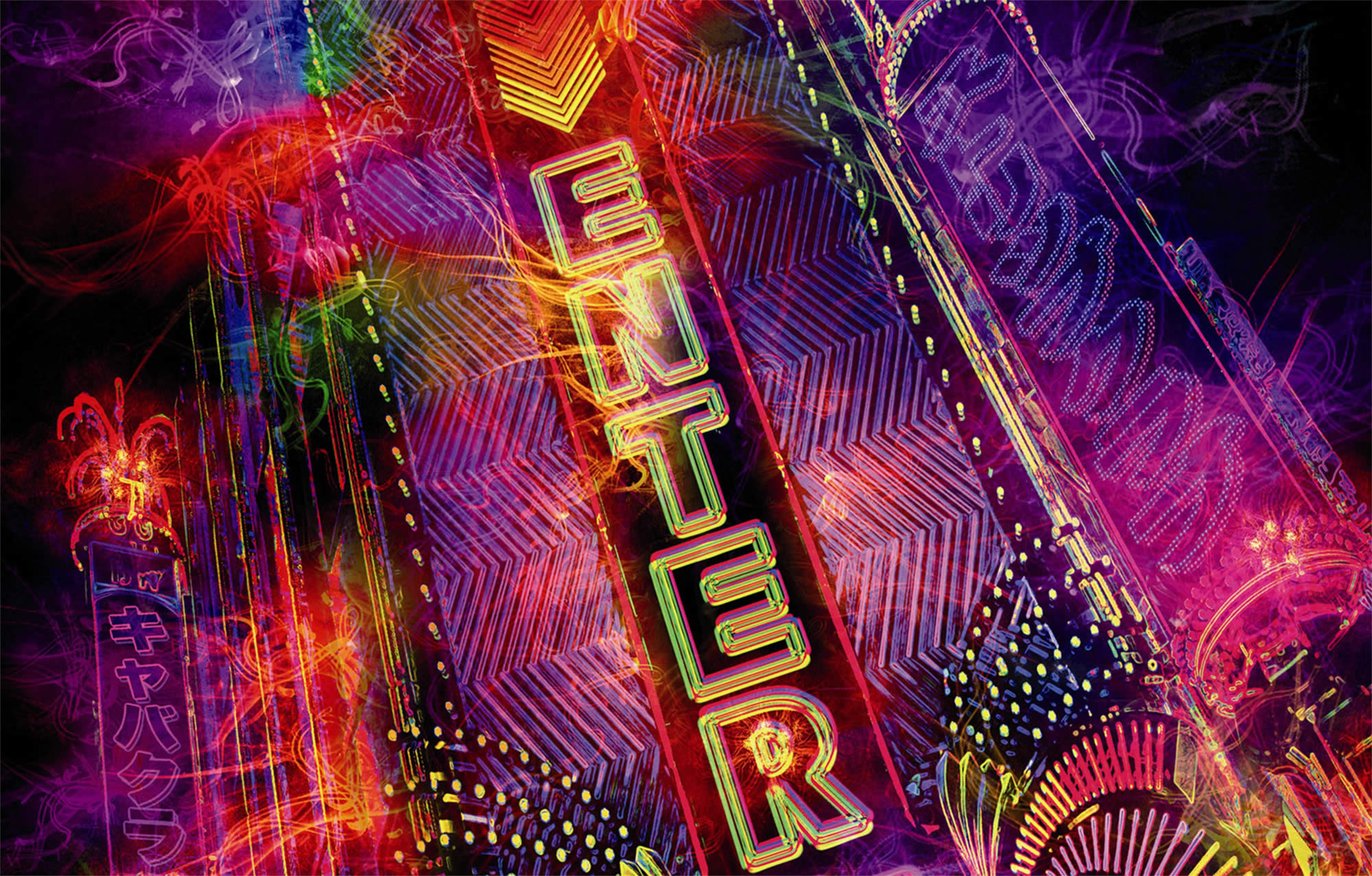 neon signs from enter the void movie